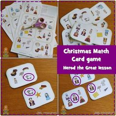 Herod the Great (Matthew Matthew 2, 21 Cards, Advent Activities, Advent Season, Matching Games, A Christmas Story, Card Games, Language, Languages