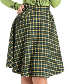 Another great find on #zulily! Green Dots Wool-Blend Virgie Ruth A-Line Skirt #zulilyfinds