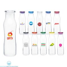 From contour to material, the h2go Vue bottle is an old-fashioned looking one (imagine classic milk bottle contain.  The lid is made from Eastman Tritan material.  It has a contoured glass design plus push on lid which gives off a sophisticated vibe.  Its single wall glass is a neat imprint area for your logo.  This is an ideal souvenir, collectible, or promo item.  Size: Fill up to 20 oz.