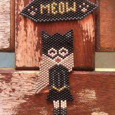 Inspiration catwoman #miyuki #jenfiledesperlesetjassume #brickstitch #kawaii #perlesmiyuki #miyukiaddict #catwoman #perlesandco #motifdelollipuce