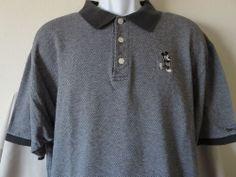 Disneyland Mickey Mouse Polo Shirt Dark Gray Mickey Mouse Anaheim Size 2XL