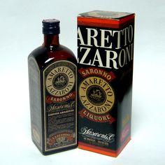 Vecchia bottiglia amaretto lazzaroni 75 cl. con box collezione idea regalo