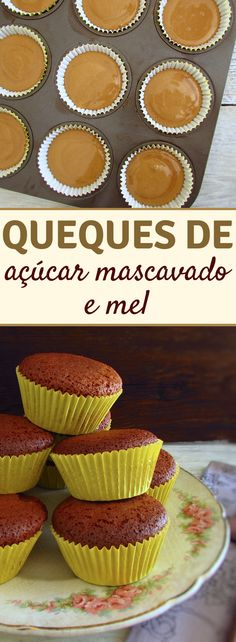 Going to have visits at home and want to prepare a quick and simple snack to offer your friends? These brown sugar and honey muffins are easy to prepare, have excellent presentation and are very tasty! Aperitivos Finger Food, Honey Dessert, Cake Recipes, Snack Recipes, Honey Cake, Delicious Breakfast Recipes, Honey Recipes, Love Eat, Chocolate Muffins