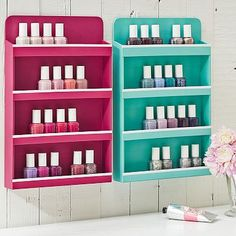 jane beauty vollection, wall nail polish organizer
