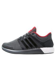 adidas Performance SOLAR BOOST - Laufschuh Dämpfung - dark grey heather/core black - Zalando.de