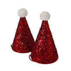 Mini Glitter Santa Hats