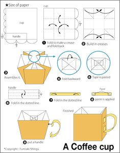 Origami A Coffee Cup InstructionsCoffee CupsTea
