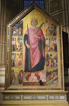 Jacopo del casentino, san miniato e storie della sua vita, 1320 ca.  Якопо дель Casentino, Сан-Миниато и истории  его жизни, 1320 г.