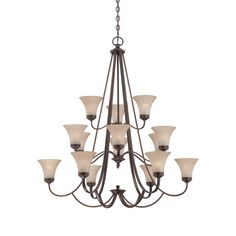 A beautiful Palladian Bronze Chandelier is part of the Aliza Collection