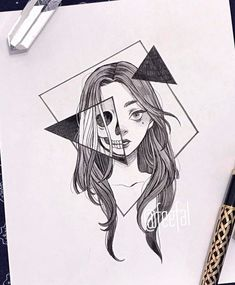 art sketchbook Ana Clara Viana (ana_claaraviana) I - Dark Art Drawings, Art Drawings Sketches Simple, Pencil Art Drawings, Easy Drawings, Tattoo Sketches, Tumblr Drawings, Random Drawings, Detailed Drawings, Tattoo Drawings