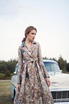 Ekskluzywne sukienki - Lily Was Here by Liliana Kupidura Formal Coat, Cold Day, Timeless Fashion, Feminine, Shirt Dress, Elegant, Chic, Unique, Fabric
