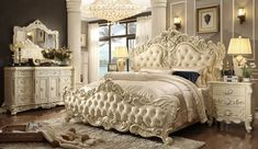 white victorian bedroom furniture. HD 5800 Bedroom Set Homey Design Victorian, European \u0026 Classic White Victorian Furniture