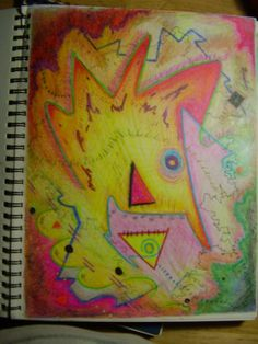 Oil Pastel - Study in Sketch Book - 17 x 14 - Nick Chagouris