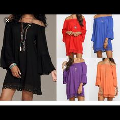 e2959b4c410 Flying Tomato Off Shoulder Boho Chic Tunic Kimono Top, Off The Shoulder,  Tunic,