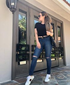 Fresh Outfits, Jean Outfits, Cool Outfits, Summer Outfits, Casual Outfits, Fashion Outfits, Womens Fashion, Collage Outfits, Summer Jeans