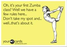 Zumba can be so territorial :) - one of the reasons I stopped going and bought videos instead! Keep the cliques at the door please, you workout to have fun, not to impress anyone and ruin everyone else's fun! What's the funny part is the clique was infringing on us and we happily made room but when you start to intentionally elbow and trip that's just ridiculous.