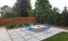 mid century modern concrete patio - Landscaping - Gardening Ideas