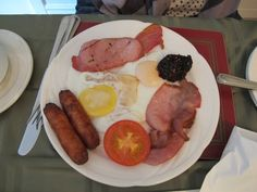 Clonakilty ist berühmt für seine Blutwurst - und nein, das ist nicht mein Frühstück (!). Foto: Doris Sausage, Ireland, Food, Sausages, Essen, Irish, Meals, Yemek, Eten