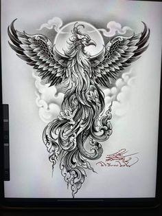 Dad Tattoos, Sexy Tattoos, Fenix Tattoos, Khmer Tattoo, Foo Dog Tattoo, Cloud Tattoo, Ancient Egypt Art, Phoenix Tattoo Design, Phoenix Art