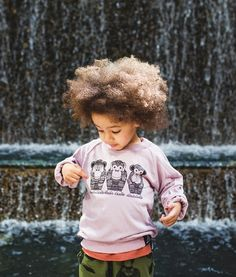 Tres Monkes sweatshirt by Quinn and Fox Autumn-Winter 2014 kidswear collection <3 #naturalhair