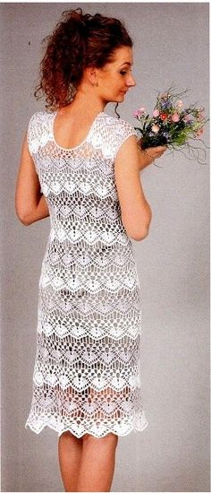 Crochet dress…using fine cotton see pattern diagram