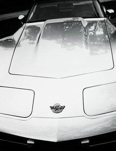 Vintage Chevrolet Corvette Black & White Fine
