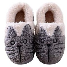 e34e88da64f MiYang Women Toddlers Cute Cat Warm House Slippers Booties  With its lovely  kitty style