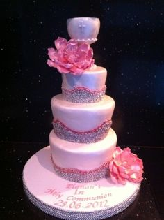 first communion cake By nivani on CakeCentral.com