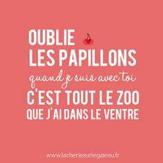 Forget the butterflies. When I'm with you, an the entire zoo is in my belly. French Words, French Quotes, Favorite Quotes, Best Quotes, Funny Quotes, Material Didático, Stupid Love, Quote Citation, Some Quotes