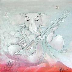 Ganesha126_1 Painting By M Singh