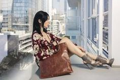 Cowhide Leather, Leather Bag, Current Fashion Trends, Sequin Skirt, Classy, Skinny, Brown, Clothes, Outfits