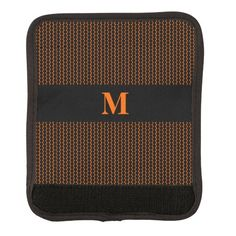 Monogram Little Black Dots on Orange Handle Wrap by M to the Fifth Power #mtothefifthpower