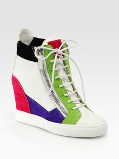 Image result for sneaker wedges colorful