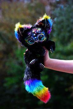 Space Kitten von GakmanCreatures auf Etsy - Animals and pets Baby Animals Super Cute, Cute Little Animals, Cute Funny Animals, Cute Cats, Cute Fantasy Creatures, Cute Creatures, Baby Animals Pictures, Animals And Pets, Anime Animals