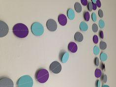 Purple dark gray turquoise 10 ft. circle paper by SewBotGirl, $8.50