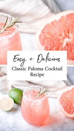 Cocktails Using Tequila, Best Tequila Drinks, Easy Cocktails, Easy Drink Recipes, Best Cocktail Recipes, Sangria Recipes, Grapefruit Cocktail, Cocktail Tequila, Bellini Cocktail