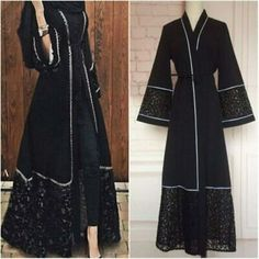 Due to the difference between different monitors, the picture may not reflect the actual color of the item. Iranian Women Fashion, Islamic Fashion, Muslim Fashion, Abaya Fashion, Fashion Dresses, Party Gown Dress, Mode Abaya, Hijab Fashionista, Abaya Designs