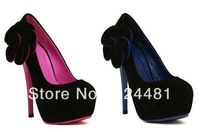 2014 Hot cheap free shipping fashion style waterproof Taiwan high-heeled pointed shoes wholesale fluorescent colors
