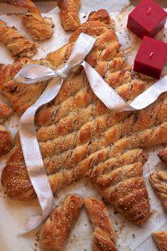 Stella di Natale di pane farcito