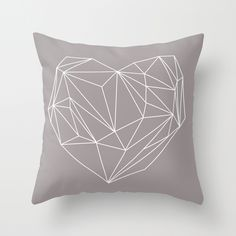 Heart Graphic Throw Pillow by Mareike Böhmer Graphics | Society6