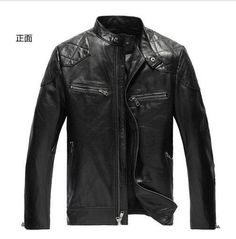 Motorcycle Leather Man Jackets Windproof 2 Color Slim Fit Retro Spring Men's PU Leather Jacket Casual Coat 2015 Top Quality Plus