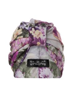 Soft jersey floral print turban