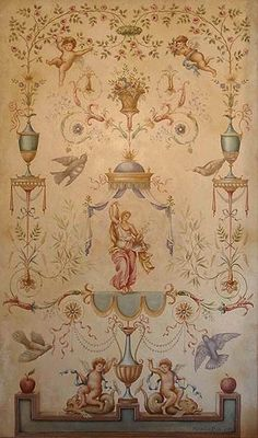 I love the details on this wall mural. Beautiful work of art. No credits available