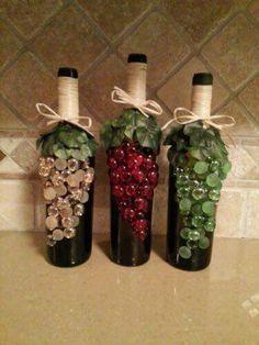 Wine Bottle Crafts – Make the Best Use of Your Wine Bottles – Drinks Paradise Wine Craft, Wine Cork Crafts, Wine Bottle Crafts, Jar Crafts, Shell Crafts, Decor Crafts, Wine Bottle Corks, Diy Bottle, Beer Bottles