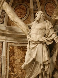 Statue of St. Andrew in St. Peter's Basilica, Vatican, Rome, Lazio, Italy, Europe Photographic Print