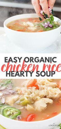 This satisfying, comforting chicken soup recipe is made with tender breast meat, hearty vegetables and aromatic chicken stock. Slow Cooker Chicken Curry, Slow Cooker Soup, Slow Cooker Recipes, Easy Delicious Recipes, Healthy Soup Recipes, Lebanese Lentil Soup, Chicken And Cabbage, Organic Chicken, Rice Soup