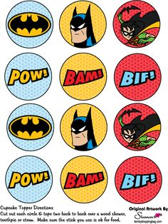 Batman-Birthday-Party-Ideas-for-kids-Printable-Cup-Cake-Toppers