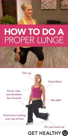 Learn the proper form for a lunge to reap all of the benefits! #lunge #exercise #form