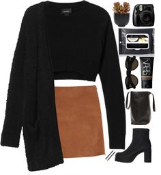"""""""Brown & Black"""" by meloissa on Polyvore"""