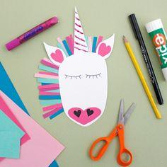 Valentine Crafts, Valentines Day, Diy For Kids, Crafts For Kids, Spring Arts And Crafts, Paper Crafts, Diy Crafts, Crafty Craft, Unicorn Party